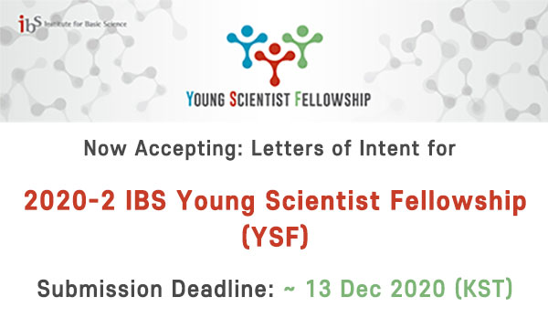 Institute for Basic Science (IBS) Young Scientist Fellowship 2020 (Funding available)
