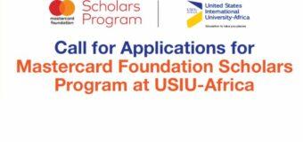 Mastercard Foundation Scholars Program at United States International University – Africa 2021/2022 (Fully-funded)