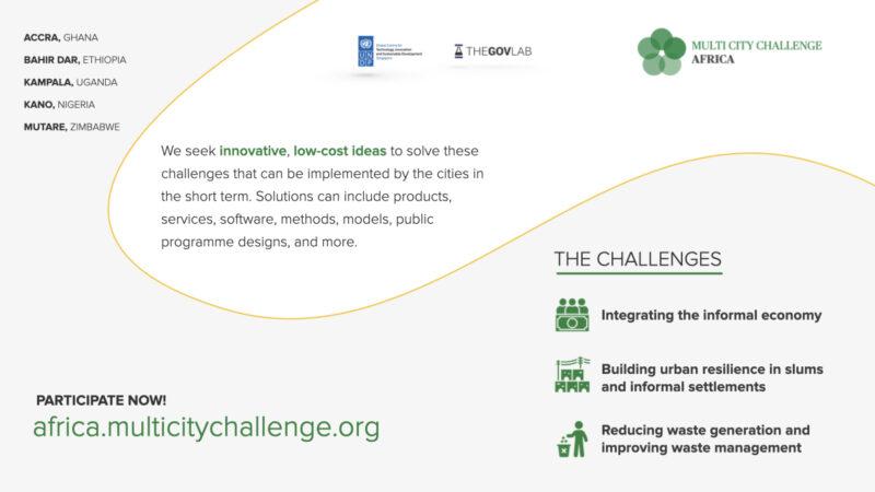 UNDP/The GovLab Multi-City Challenge Africa 2020