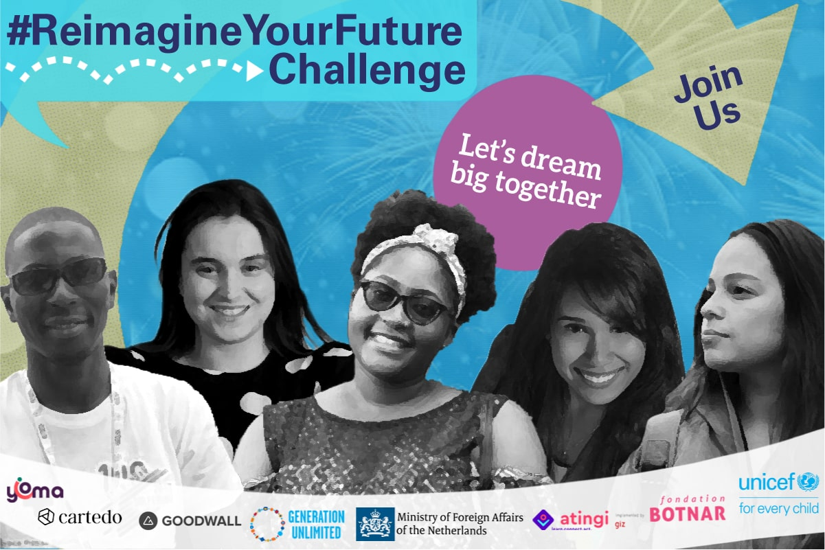 UNICEF #ReimagineYourFuture Challenge 2020 for Youth worldwide
