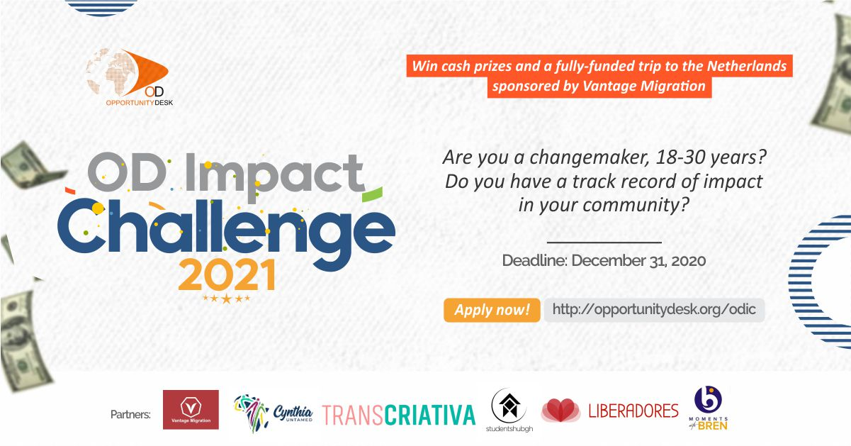 OD Impact Challenge 2021 for Changemakers (Win cash prizes and a trip to the Netherlands)
