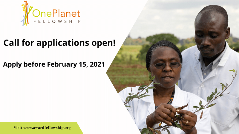 One Planet Fellowship 2021 for African Researchers