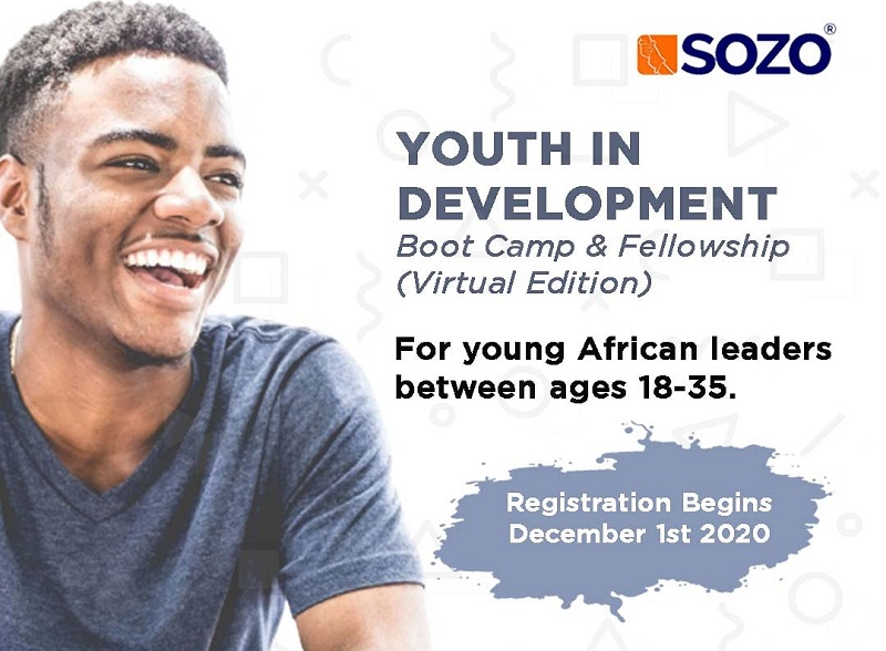 Sozo Networks Youth in Development Boot Camp and Fellowship 2021 for Young African Leaders