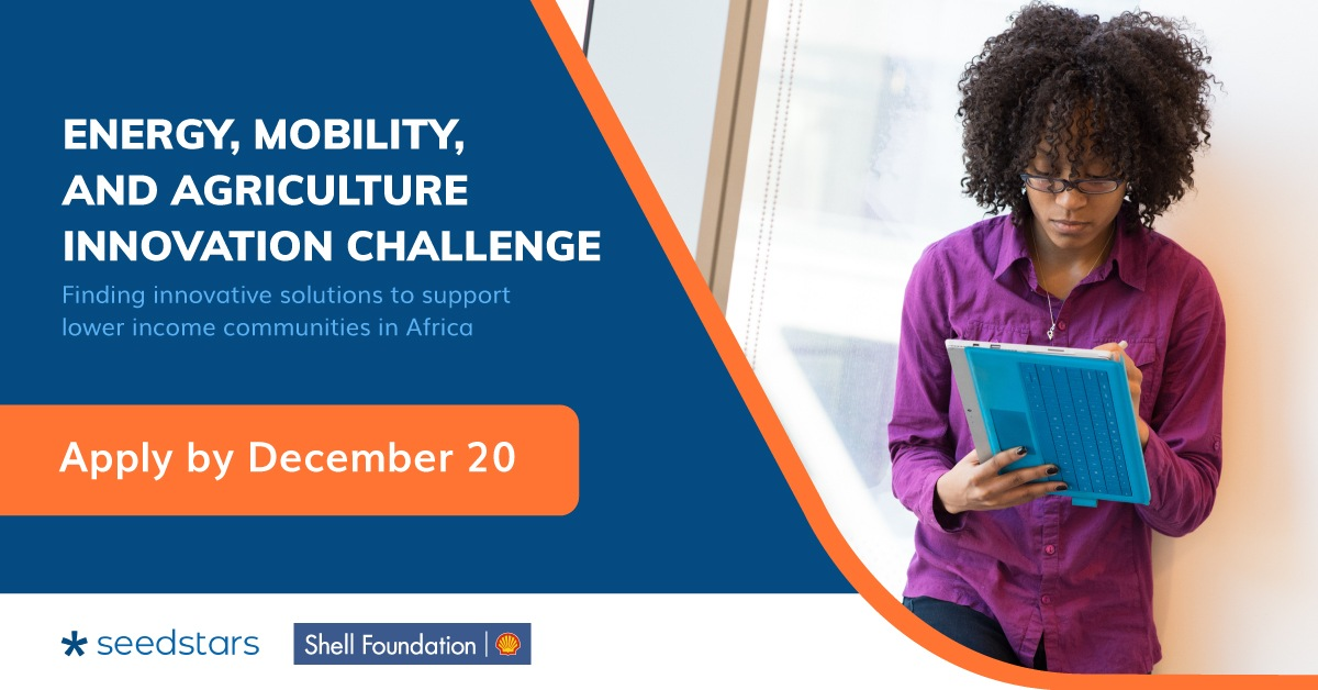 Seedstars/Shell Foundation Energy, Mobility and Agriculture Innovation Program 2021