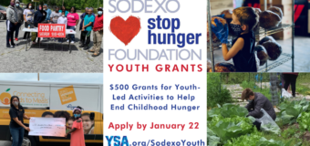 YSA/Sodexo Stop Hunger Foundation Youth Grants Program 2021 [U.S. only]