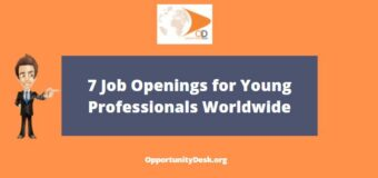 7 Job Openings for Young Professionals Worldwide