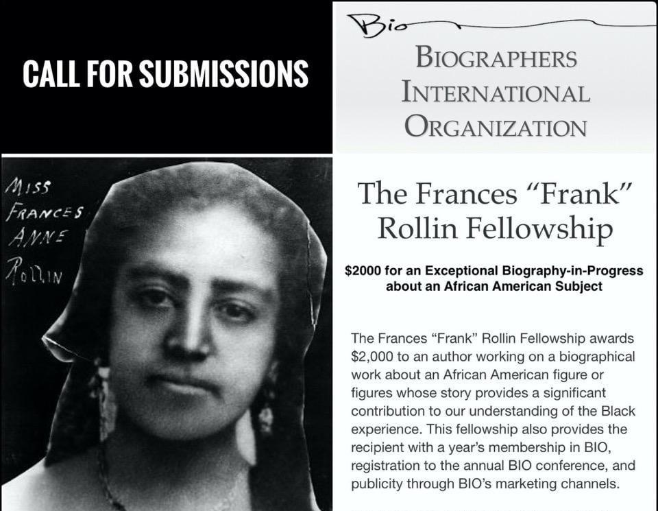 "BIO Frances ""Frank"" Rollin Fellowship 2021 (up to $2,000)"