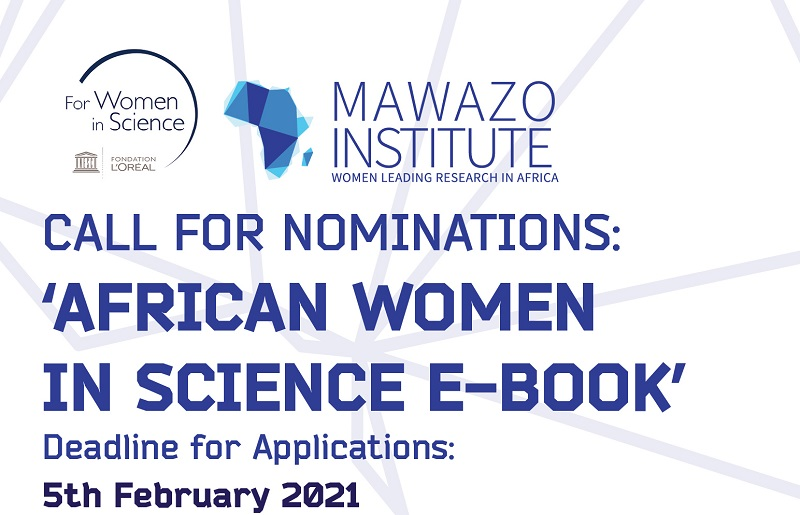 Call for Nominations: Mawazo Institute African Women in Science e-Book 2021