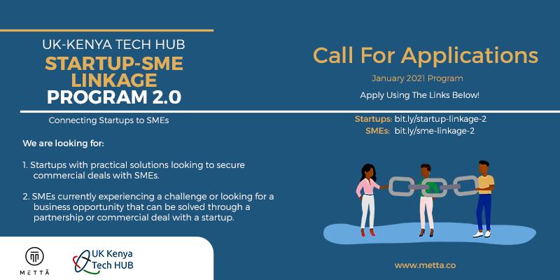 UK-Kenya Tech Hub Startup-SME Linkage Program 2.0