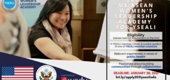 Young Southeast Asian Leaders Initiative (YSEALI) Women's Leadership Academy 2021