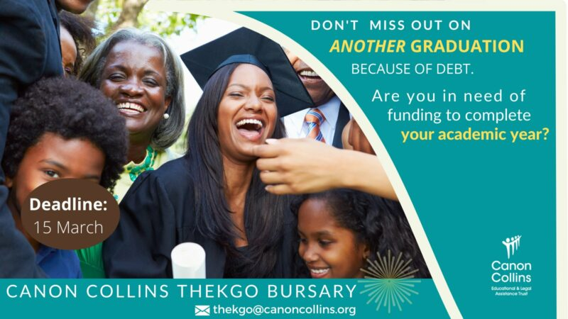 Canon Collins Thekgo Bursary Programme 2021 for Africans