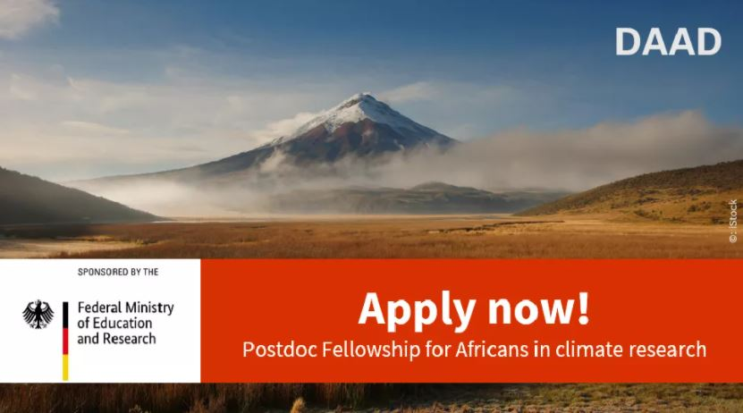 DAAD ClimapAfrica Postdoctoral Fellowship 2021 for Africans in Climate Change Research (Funded)