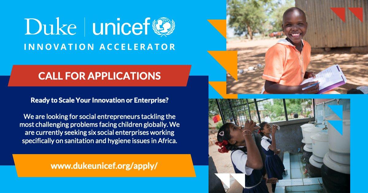 Duke-UNICEF Innovation Accelerator 2021 for Social Enterprises in Africa ($25,000 grant)