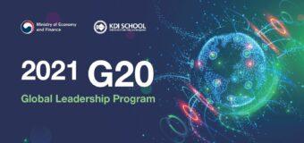 Apply for KDI School's G20 Global Leadership Program 2021