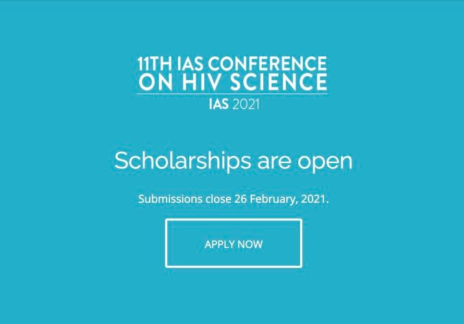 IAS Scholarship to Attend the 11th IAS Conference on HIV Science 2021