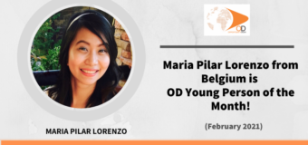 Maria Pilar Lorenzo from Belgium is OD Young Person of the Month for February 2021!