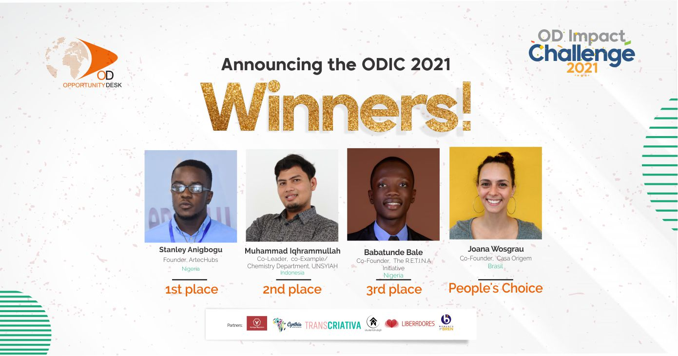 Announcing the ODIC 2021 Winners!