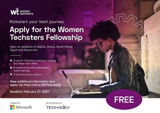 Women Techsters Fellowship Programme 2021 for African Females