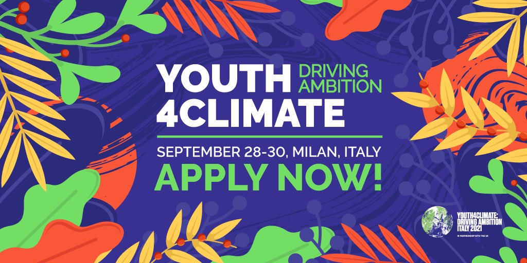 Apply to attend the Youth4Climate Driving Ambition Event 2021 in Milan, Italy (Fully-funded)
