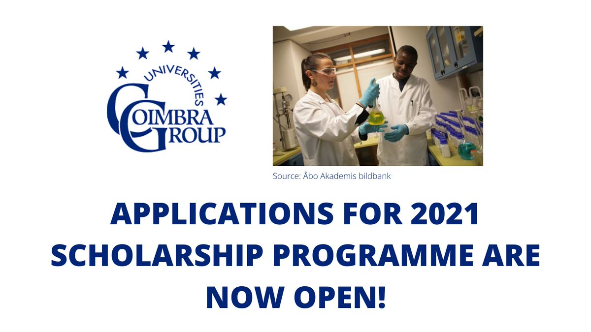 Coimbra Group Universities Scholarship Program 2021 for Young African Researchers