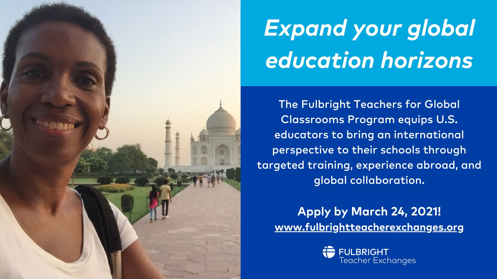 Fulbright Teachers for Global Classrooms Program 2021 for U.S. Educators (Funded)