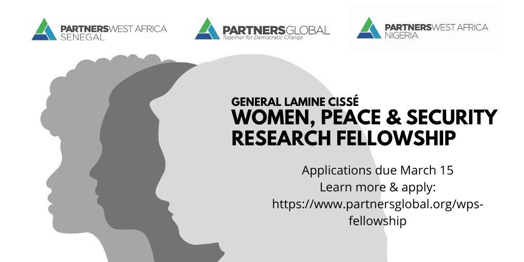General Lamine Cissé Women, Peace and Security Research Fellowship 2021 (1,500,000 CFA Grant)
