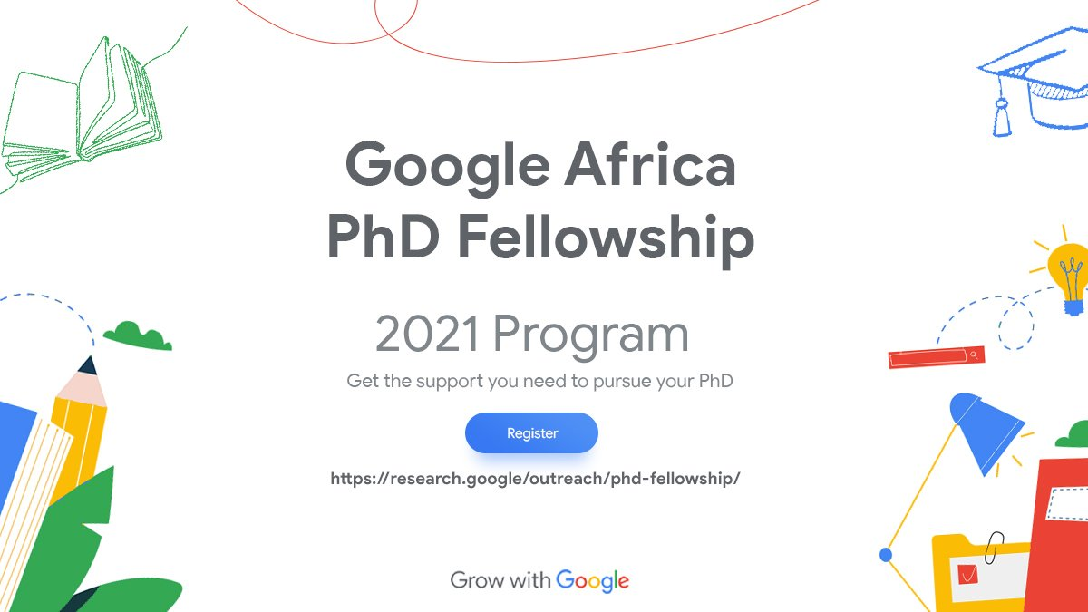 Google PhD Fellowship Program 2021 for Africans (Up to $30,000)