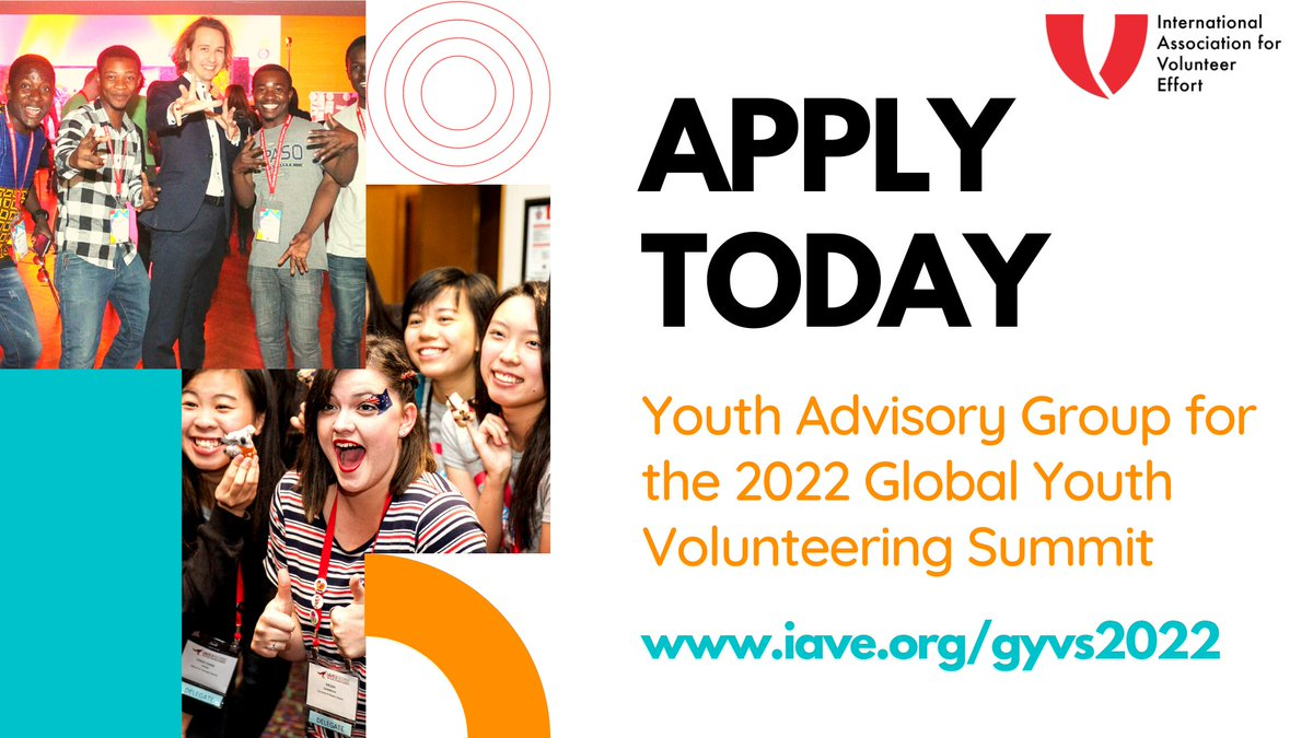 Apply to Join the Youth Advisory Group for the IAVE's Global Youth Volunteering Summit 2022