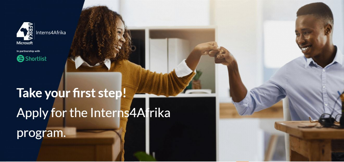 Microsoft Interns4Afrika Program 2021 for Young African Professionals