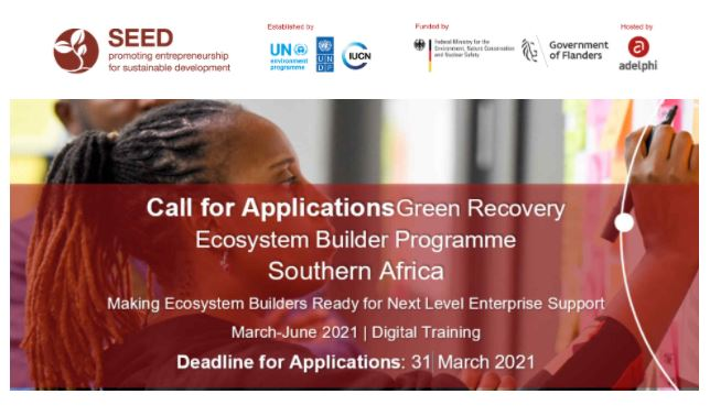 SEED Green Recovery Ecosystem Builder Programme Southern Africa 2021