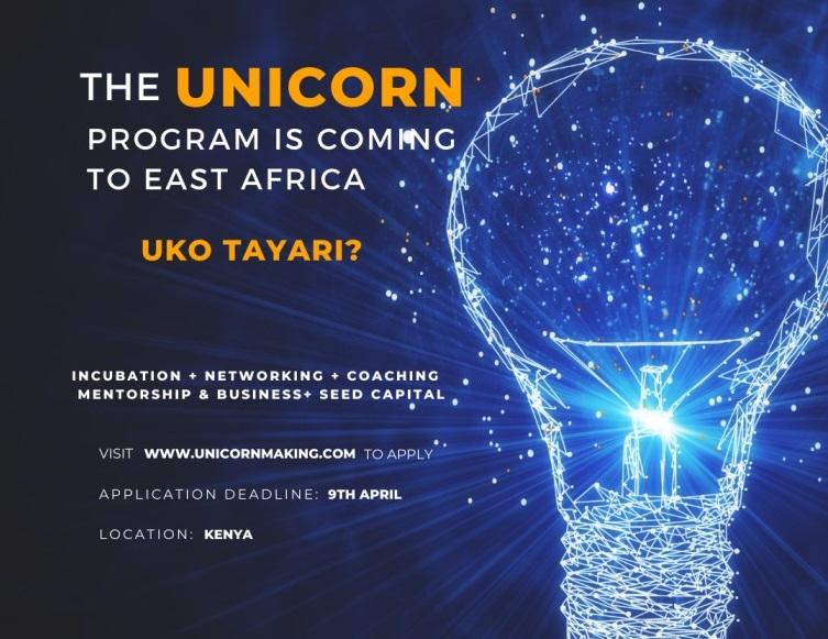 Unicorn Incubation Programme East Africa 2021 for Innovators