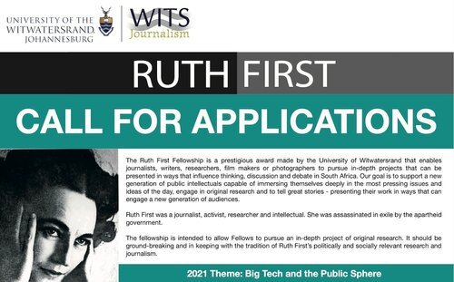 University of Witwatersrand Ruth First Fellowship 2021 (Stipend available)