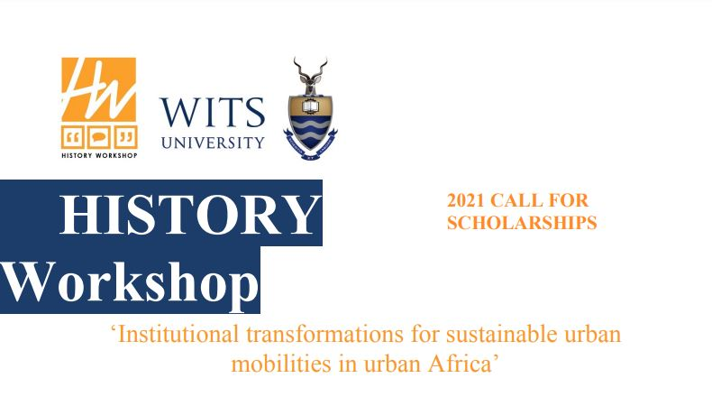 Wits History Workshop Masters Research Fellowships 2021 (Funding available)