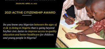 Active Citizenship in Nigeria Award 2021 for Young Changemakers