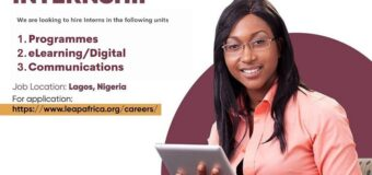 LEAP Africa NYSC Graduate Internship Program 2021
