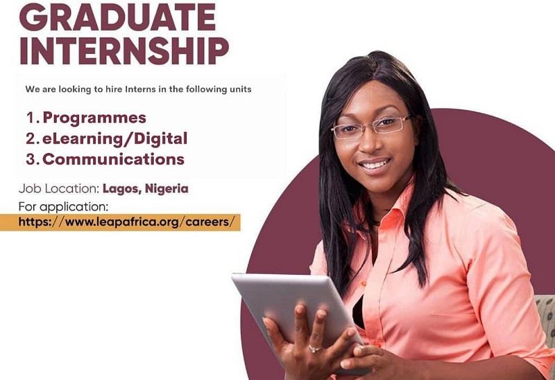 LEAP Africa NYSC Graduate Internship Program 2021