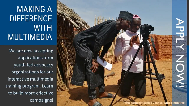 Making a Difference With Multimedia Fellowship 2021 for Leaders of Youth-led Organizations