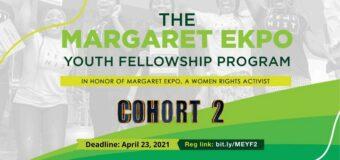 Margaret Ekpo Youth Fellowship Program for Women's Rights 2021 (Cohort 2 )