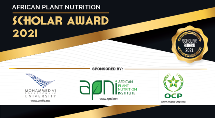 African Plant Nutrition Scholar Award 2021 for Graduate Students (Up to USD $2,000)