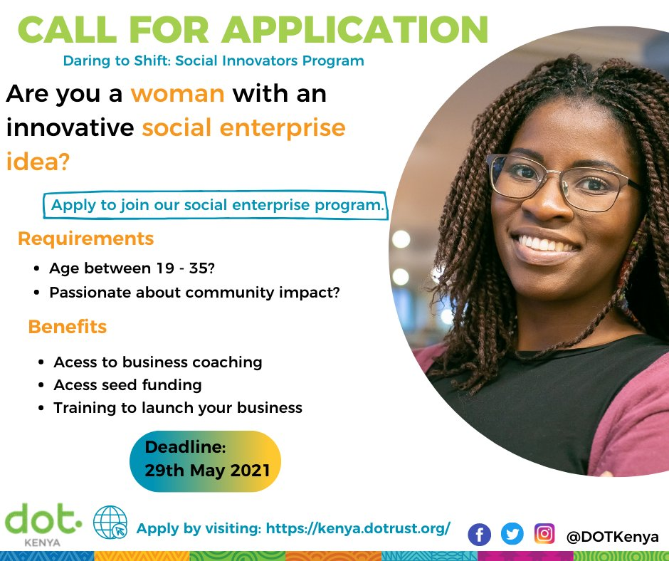 DOT Kenya Daring to Shift: Social Entrepreneurship Program 2021