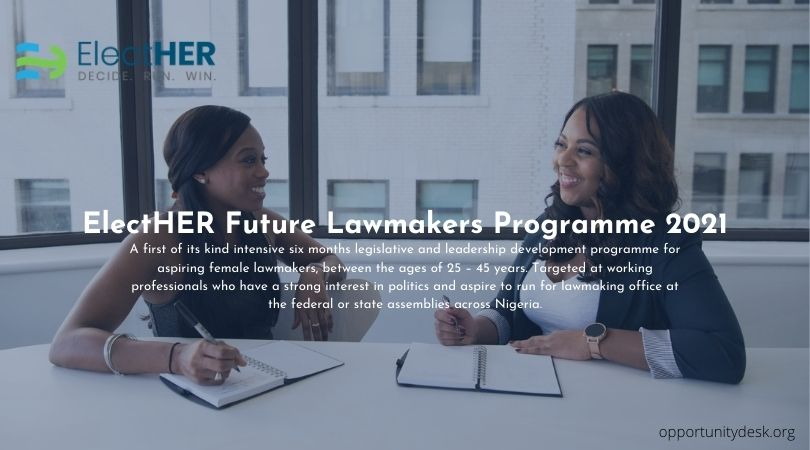 ElectHER Future Lawmakers Programme 2021 for Nigerians