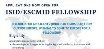 ISID/ESCMID Fellowship Program 2021/2022 for Investigators from LMICs (Up to $7,500)