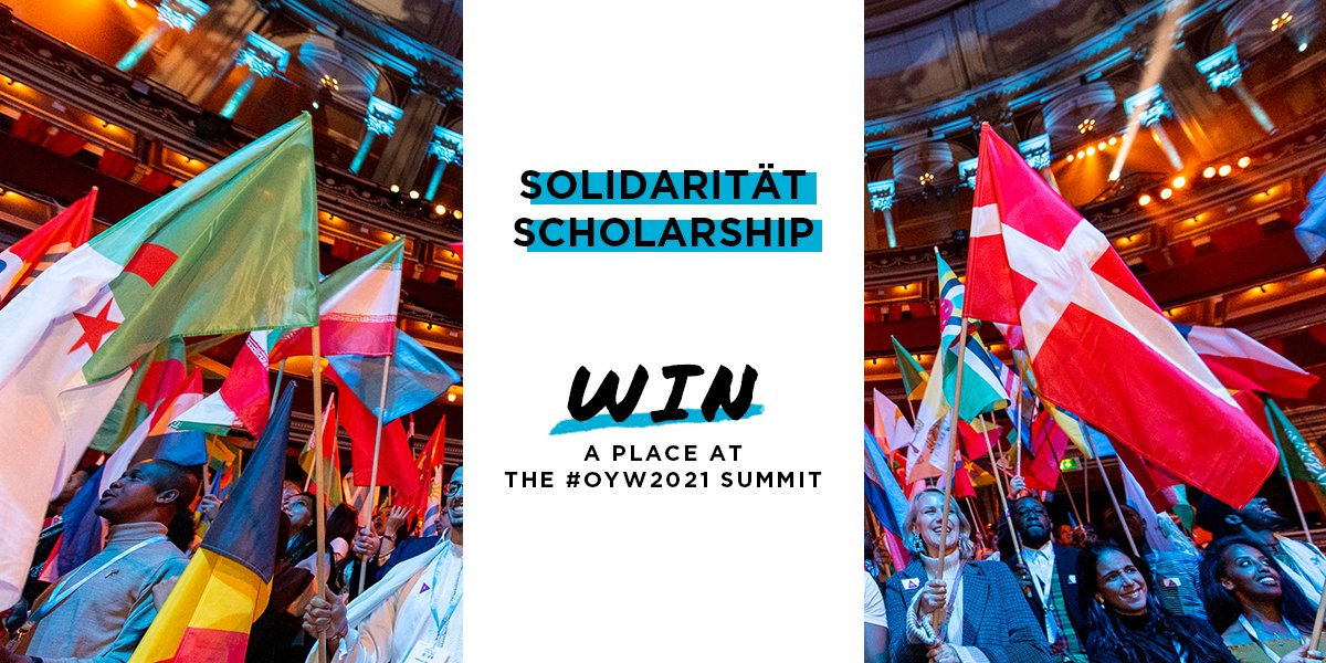 Solidarität Scholarship to Attend the One Young World Summit 2021 (Europe Only)