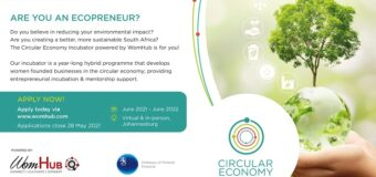WomHub Circular Economy Incubator 2021 for South African Women Ecopreneurs