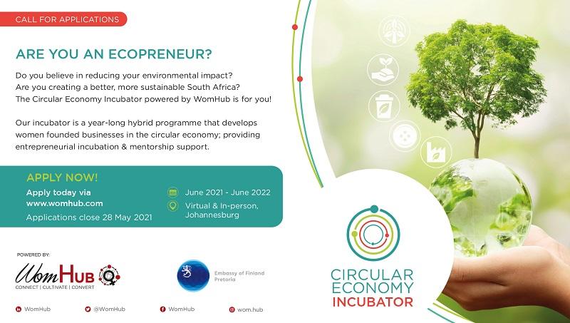 WomHub Circular Economy Incubator 2021 for South African Women Ecopreneurs