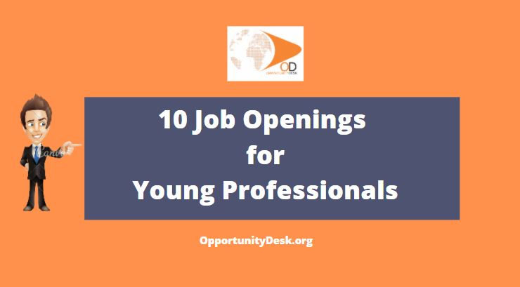 10 Job Openings  for Young Professionals