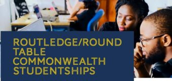 ACU Routledge/Roundtable Commonwealth Studentships 2022 (Up to £5,500)