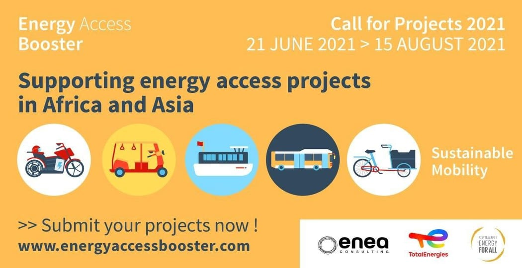Call for Projects: Energy Access Booster 2021 (Funding of $50,000)