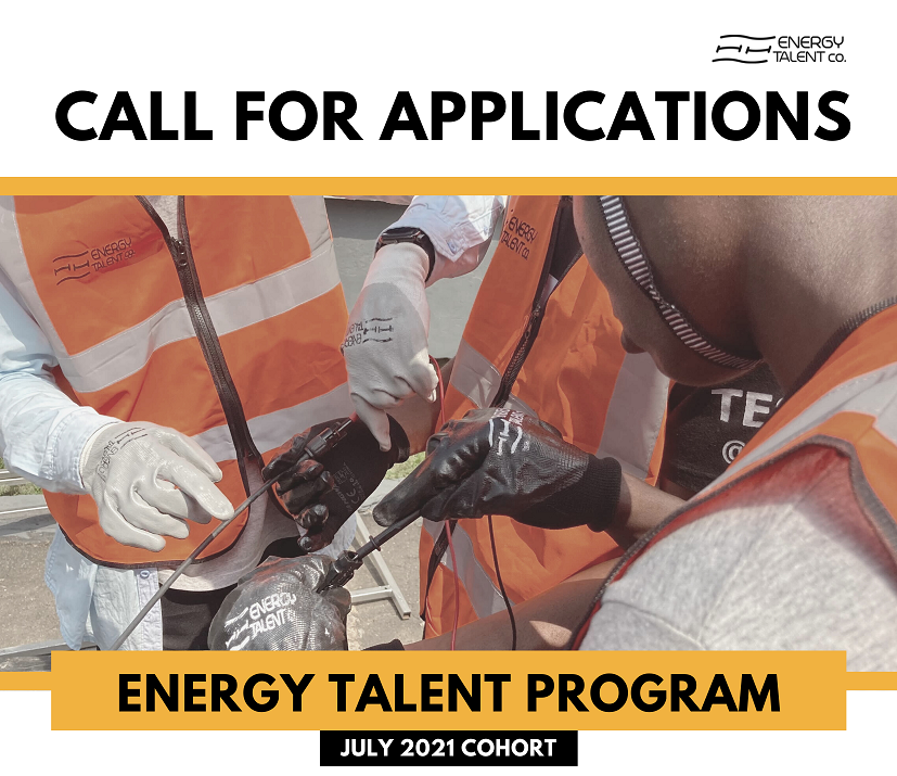 Call for Applications: Energy Talent Program 2021 for Young Nigerians