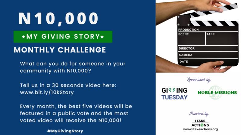 GivingTuesday Nigeria #MyGivingStory Challenge 2021 (N10,000 prize)